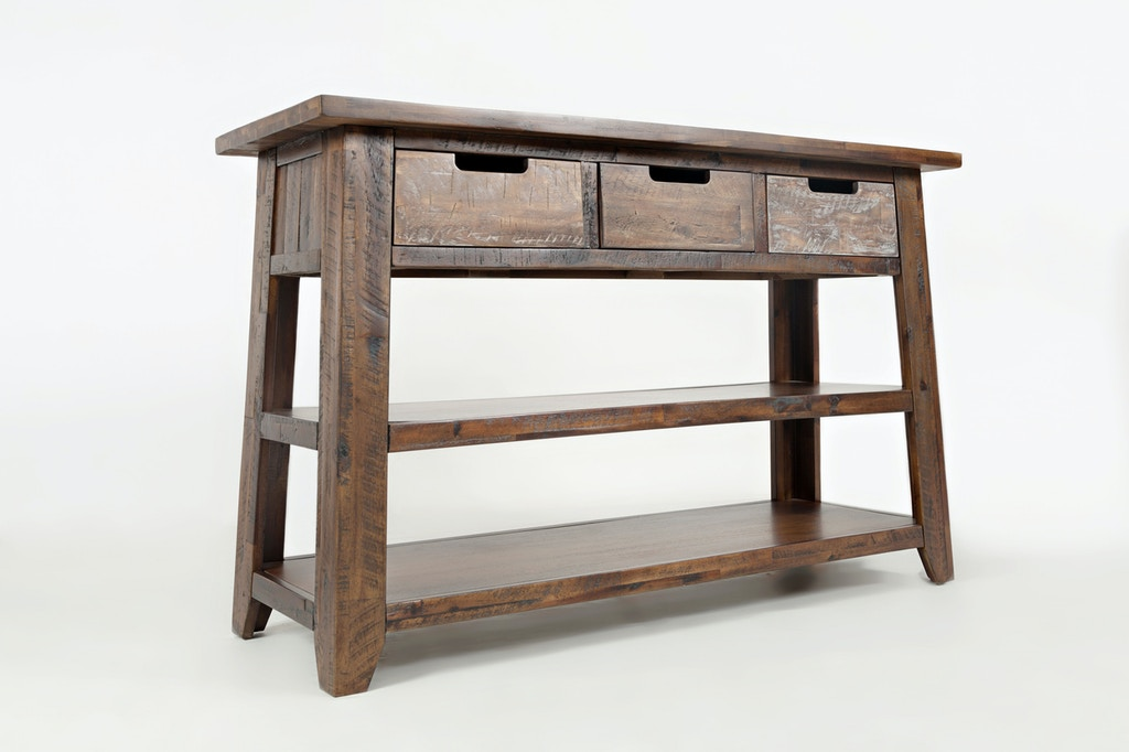 Jofran Living Room Sofa Table With 3 Drawers 2 Shelves 1600 4 At Short Furniture Co
