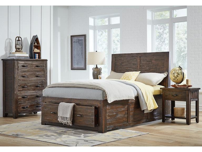 Jofran bedroom queen storage bed 1605 sq howell for Q furniture beaumont texas