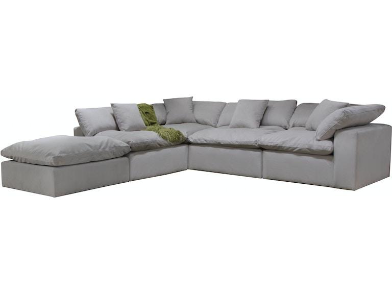 Jackson Furniture Living Room Posh Sectional - Dove 4445 ...