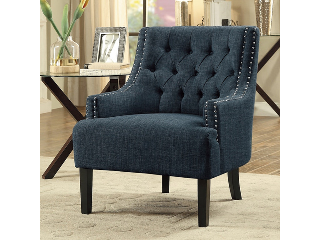 homelegance living room accent chair indigo 1194in simply discount furniture santa clarita. Black Bedroom Furniture Sets. Home Design Ideas