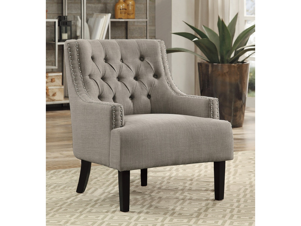 Homelegance Living Room Accent Chair Taupe 1194tp Gibson Furniture Andrews Nc