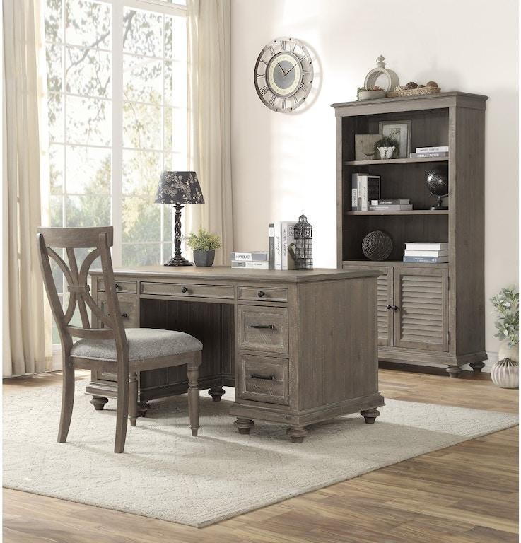 Homelegance Home Office Executive Desk, Brown 1689BR-17