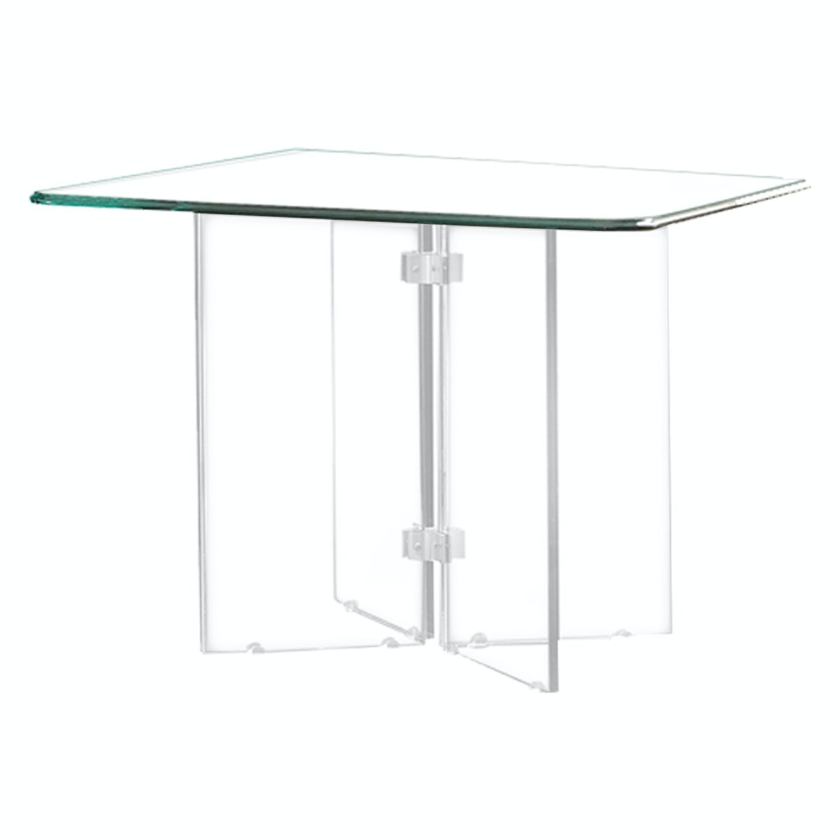 Homelegance (1/2) Square End Table Glass Top 17807