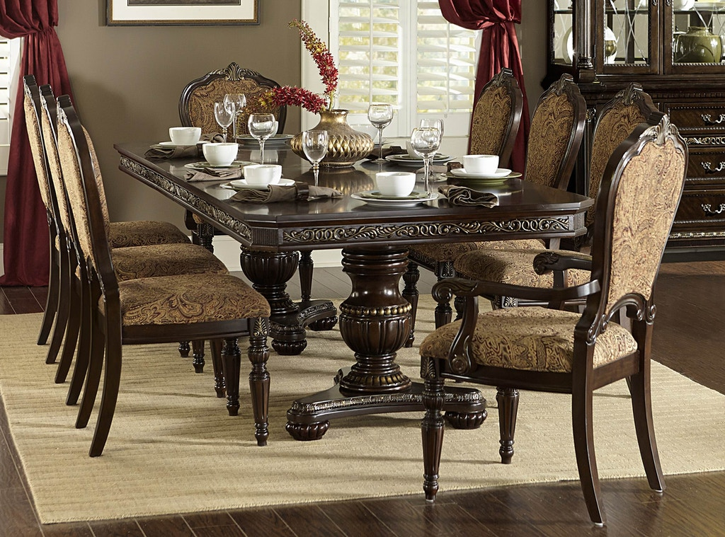 Homelegance Dining Room 2 Double Pedestal Table Bases