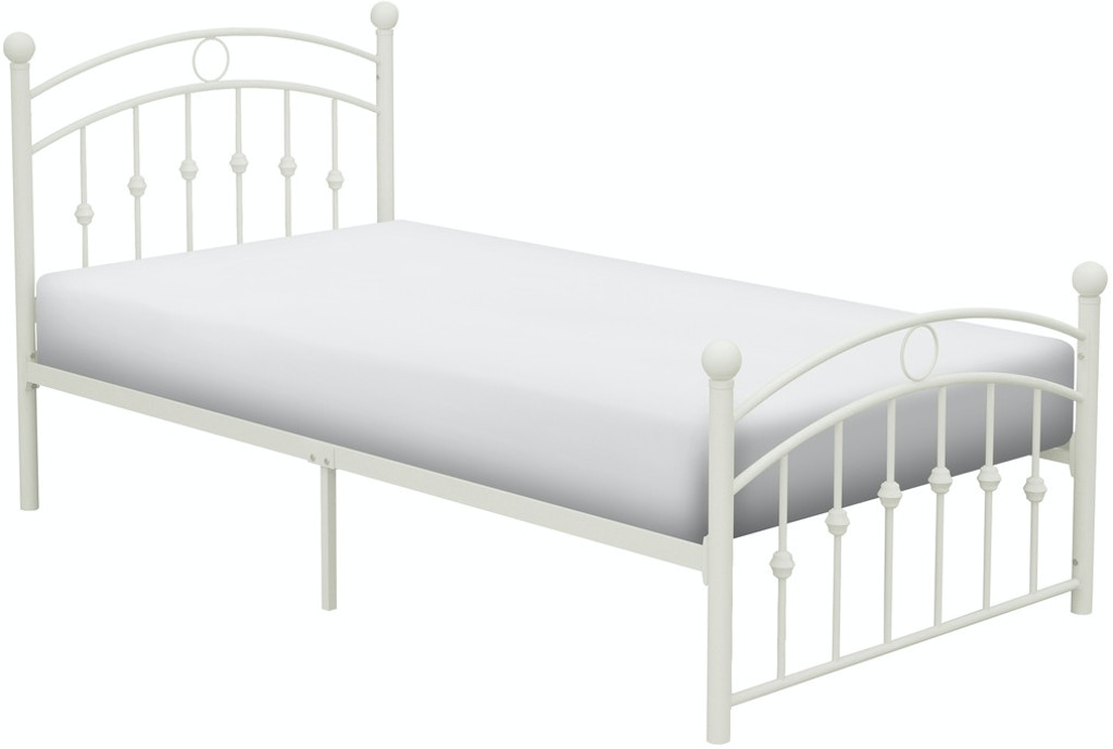 Homelegance Bedroom Twin Metal Platform Bed White 2052tw