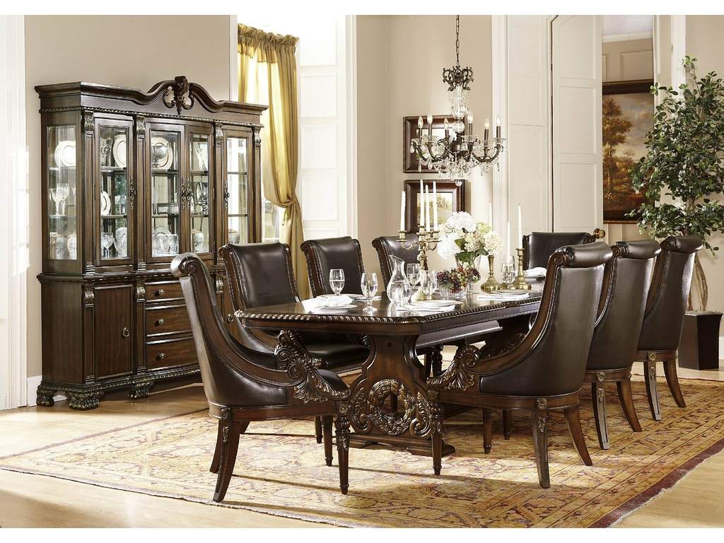 Homelegance dining room 1 2 dining table top 2168 108 for 108 inch dining room table