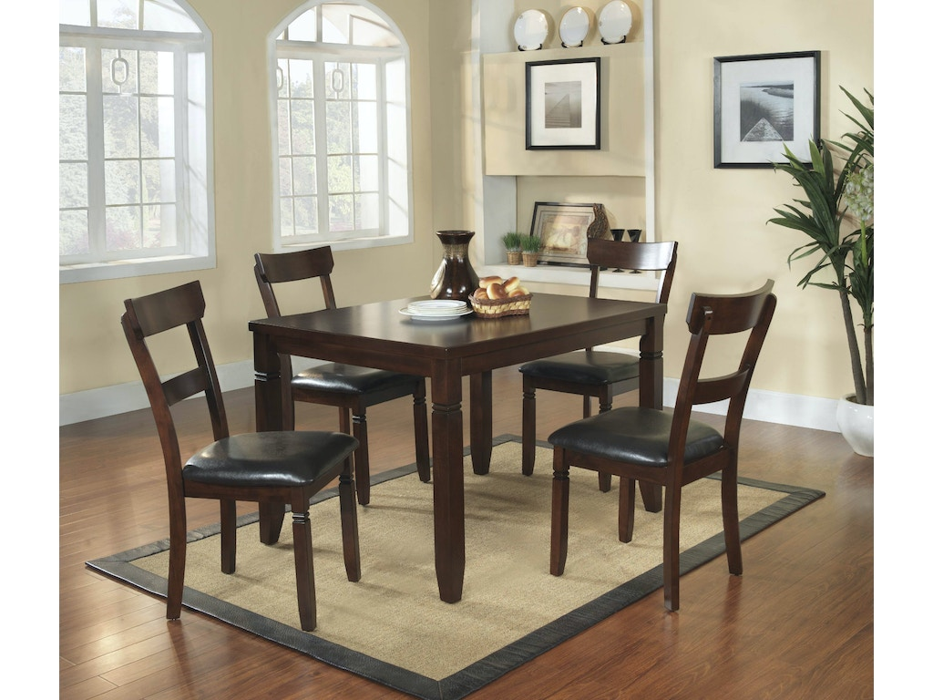 Homelegance Dining Room 5pc Pack Dinette Set 2469 The Furniture House Of Carrollton