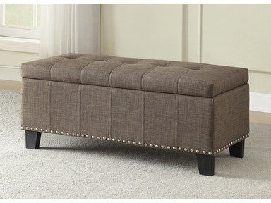 Homelegance Lift Top Storage Bench (1888n Fabric) 4614-F1