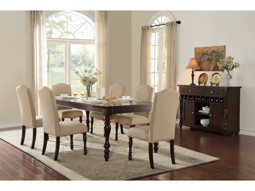 Homelegance dining room dining table 5425 90 hickory for Dining room table 90 inch