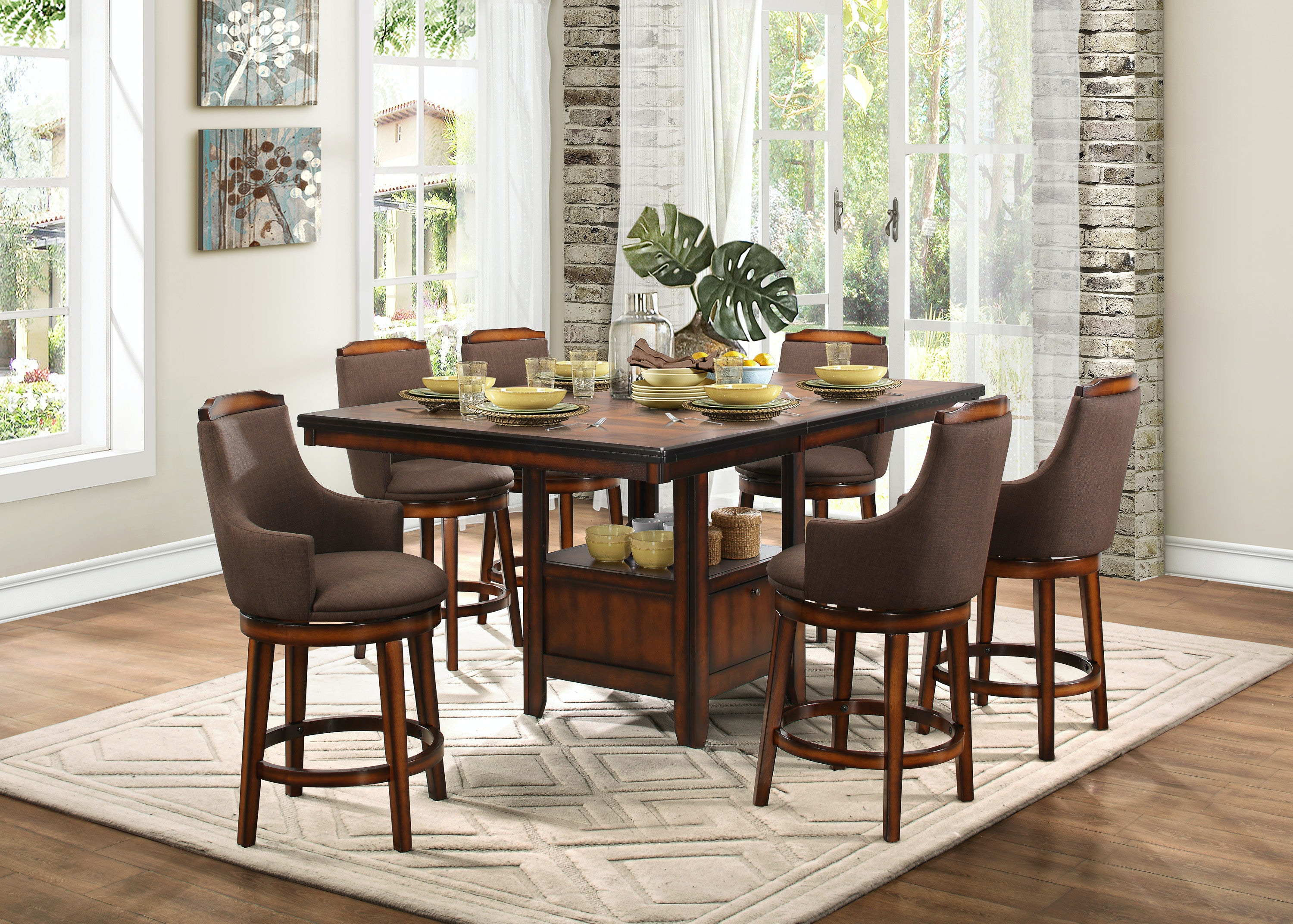 homelegance dining room 1 2 counter height table top 5447 36xl
