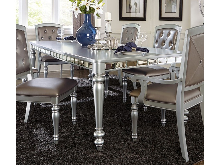 Homelegance Dining Table Mirror A Silver Grey Finish 5477n 96