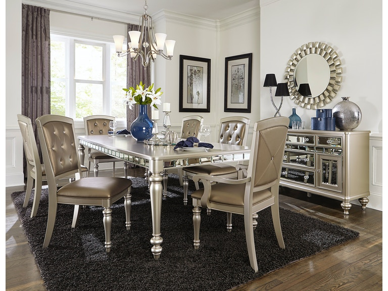 Homelegance Dining Room Table Mirror A Silver Grey Finish 5477n 96 At Gallery
