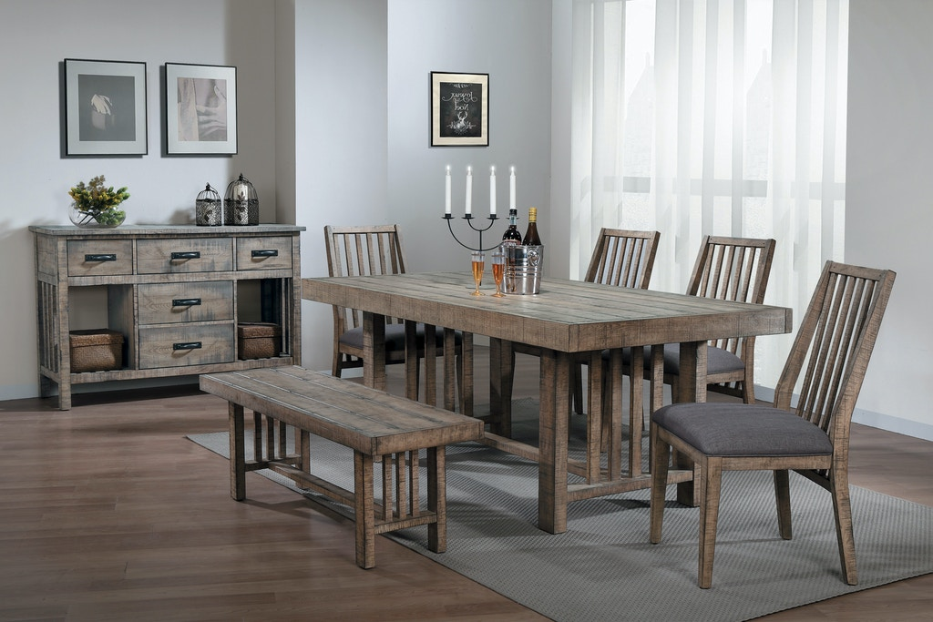 Fine Homelegance Dining Room Dining Table Barn Wood Distressed Download Free Architecture Designs Rallybritishbridgeorg