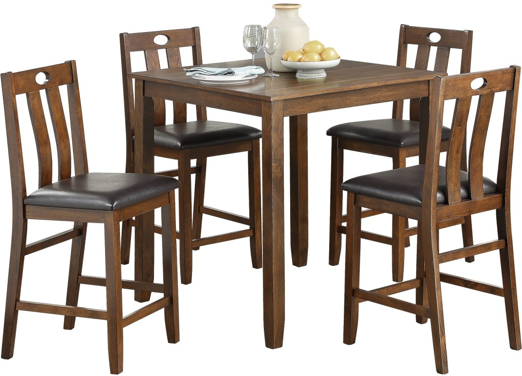 Homelegance Dining Room 5 Piece Pack Counter Height Set 5746 36 Setting The Space Plymouth Ma