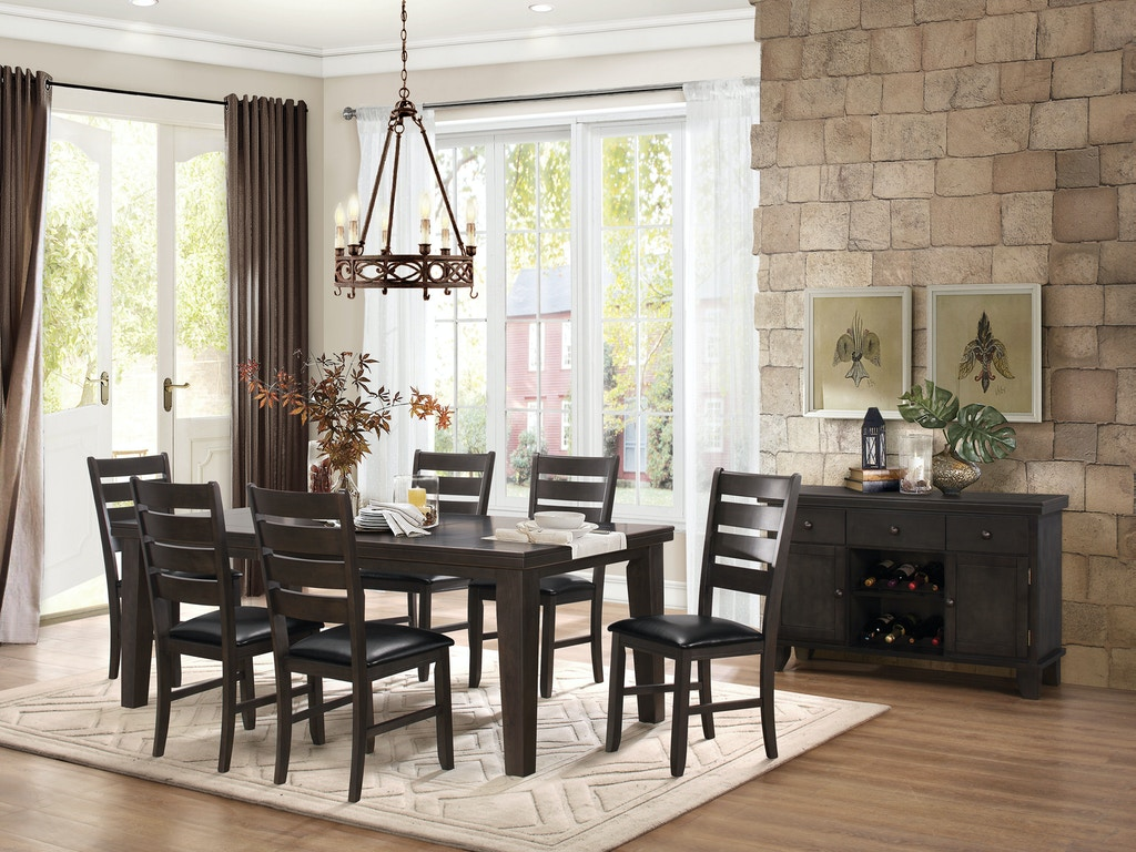 Homelegance dining room table gy hickory