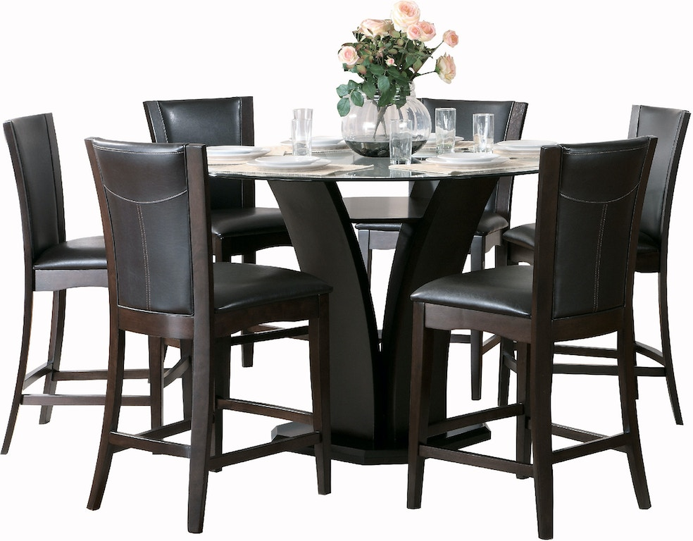 Homelegance Dining Room 1 3 Counter Height Gl Table 710
