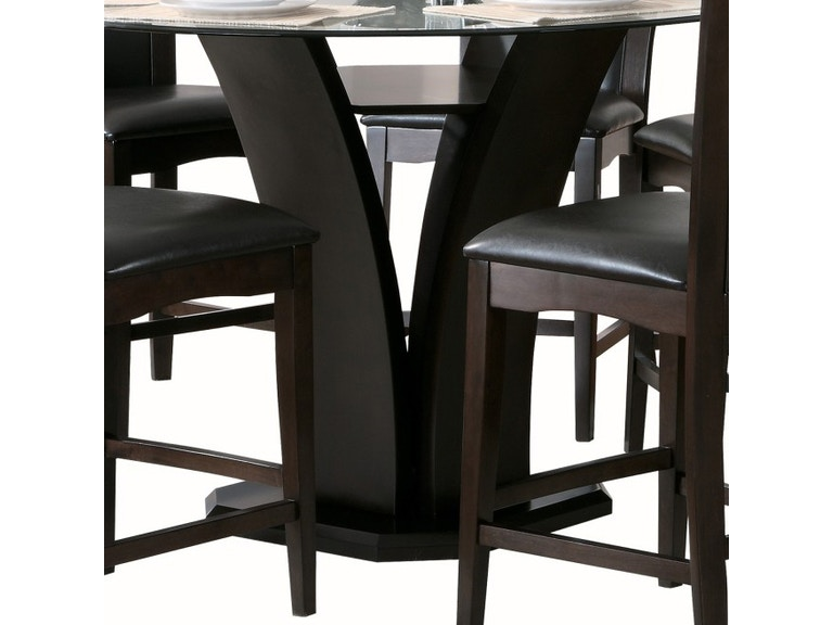 Homelegance 2 3 Counter Height Gl Table 710 36rdb