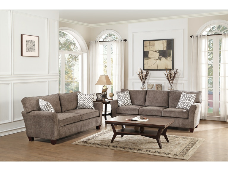 Homelegance Living Room Sofa 2 Pillows 8225 3 Gibson Furniture