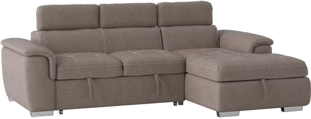 homelegance living room 2piece sectional with pullout