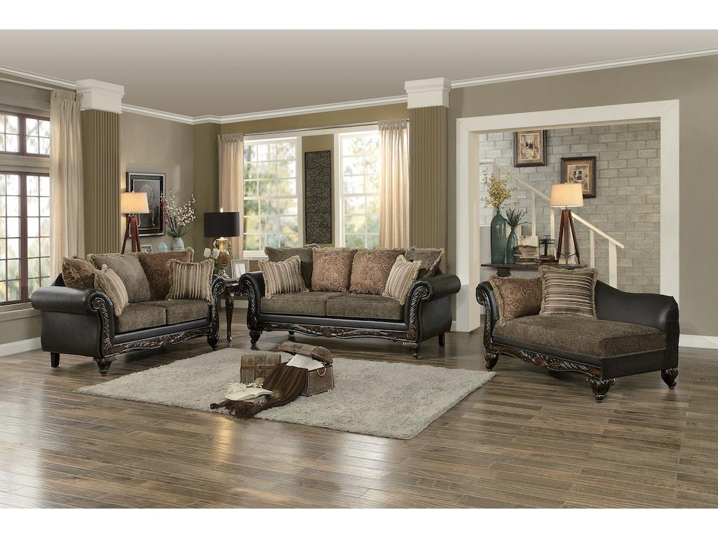 Homelegance Living Room Chaise 8233tt 5 Charter Furniture Dallas Fort Worth Tx