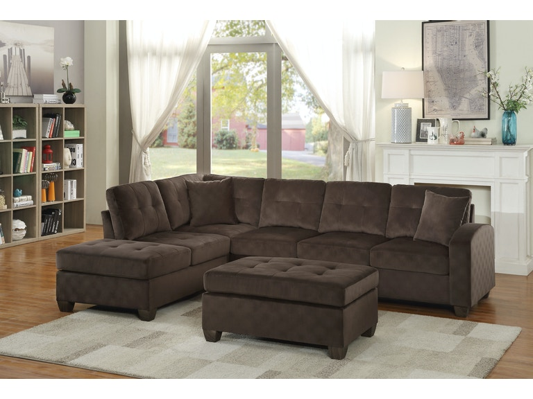 Homelegance Living Room Ottoman Chocolate Fabric 8367ch 4 At High Point Furniture