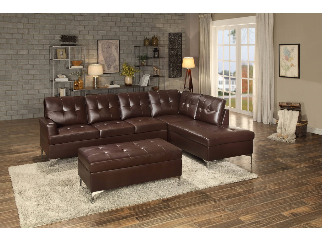 Homelegance Living Room 8378brw Sectional Charter Furniture Dallas Fort Worth Tx