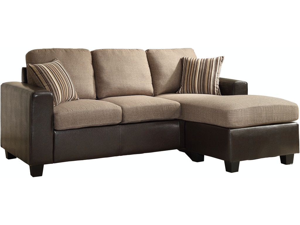 Homelegance living room sofa chaise 8401 3sc simply for Chaise promotion