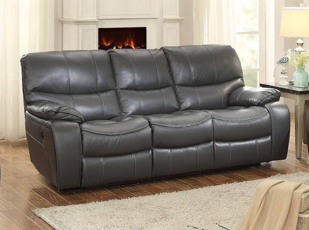 Homelegance Living Room Power Double Reclining Sofa 8480gry 3pw