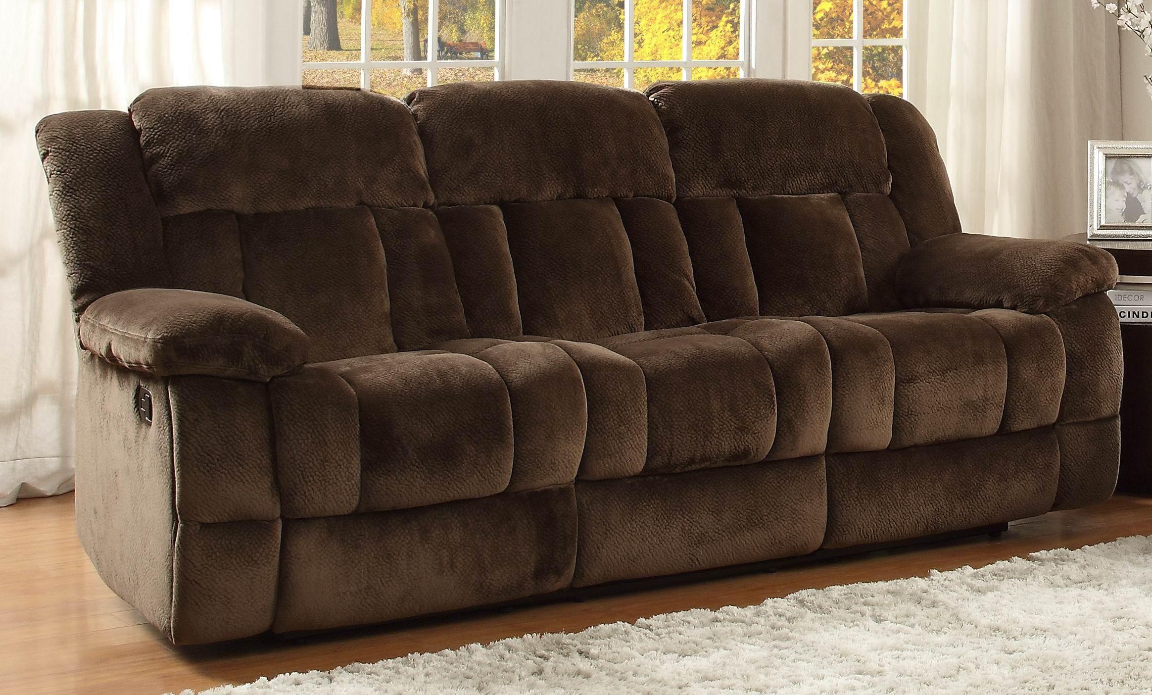 Homelegance Living Room Double Recliner Sofa 9636 3 Red Door