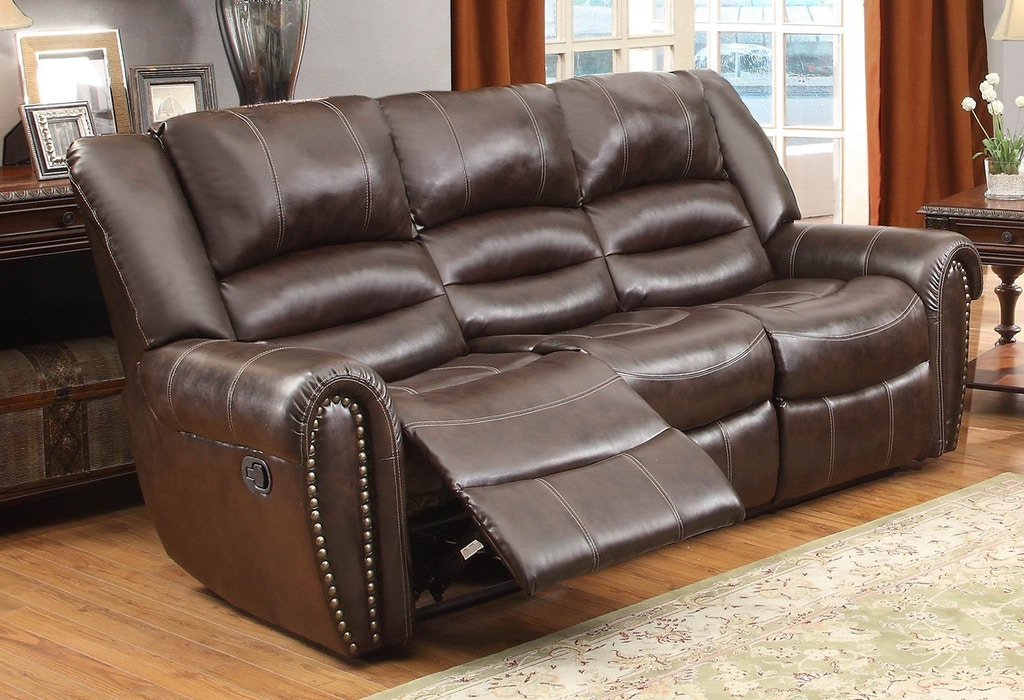 Marvelous Homelegance Living Room Power Double Recliner Sofa 9668Brw Alphanode Cool Chair Designs And Ideas Alphanodeonline