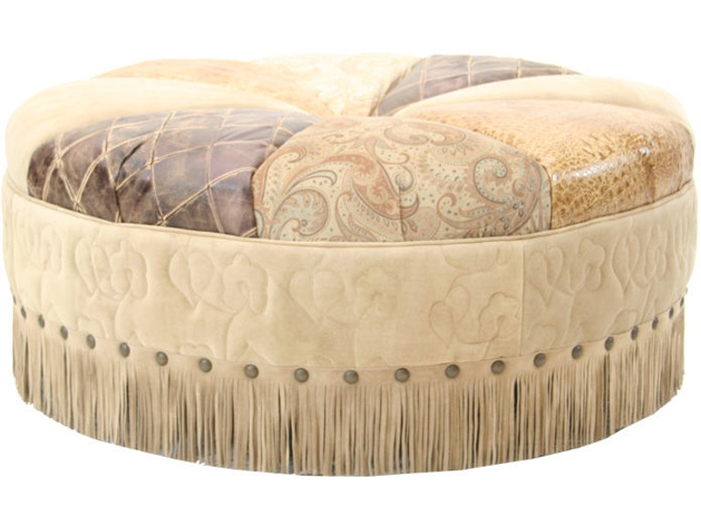 Old Hickory Tannery Living Room Pin Cushion Ottoman 3009