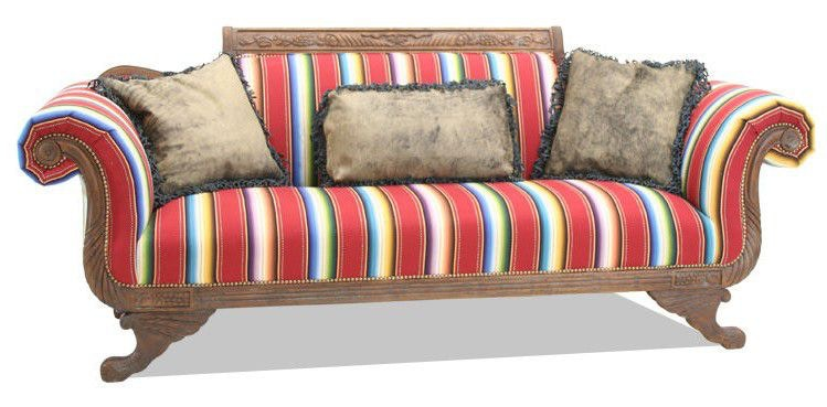 Old Hickory Tannery Living Room Duncan Phyfe Sofa 7400 Hickory