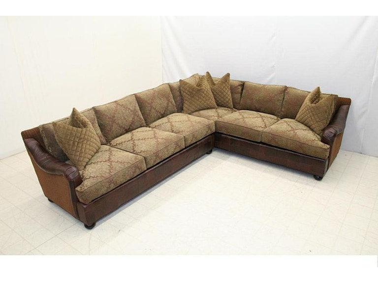 Old Hickory Tannery Living Room 8018 Sectional Hickory