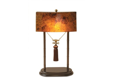 Maitland-Smith Inlaid Faux Tortoise Penshell And Spotted Patina Iron Decorative Lamp 1700-248