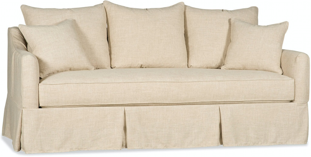 Paul Robert Living Room Vincent Sofa Slipcover  Skirted Slip
