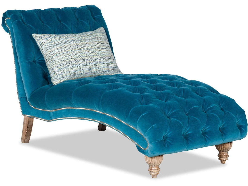 Paul robert living room victoria chaise lounge 177 17 tuft for Living room chaise lounge