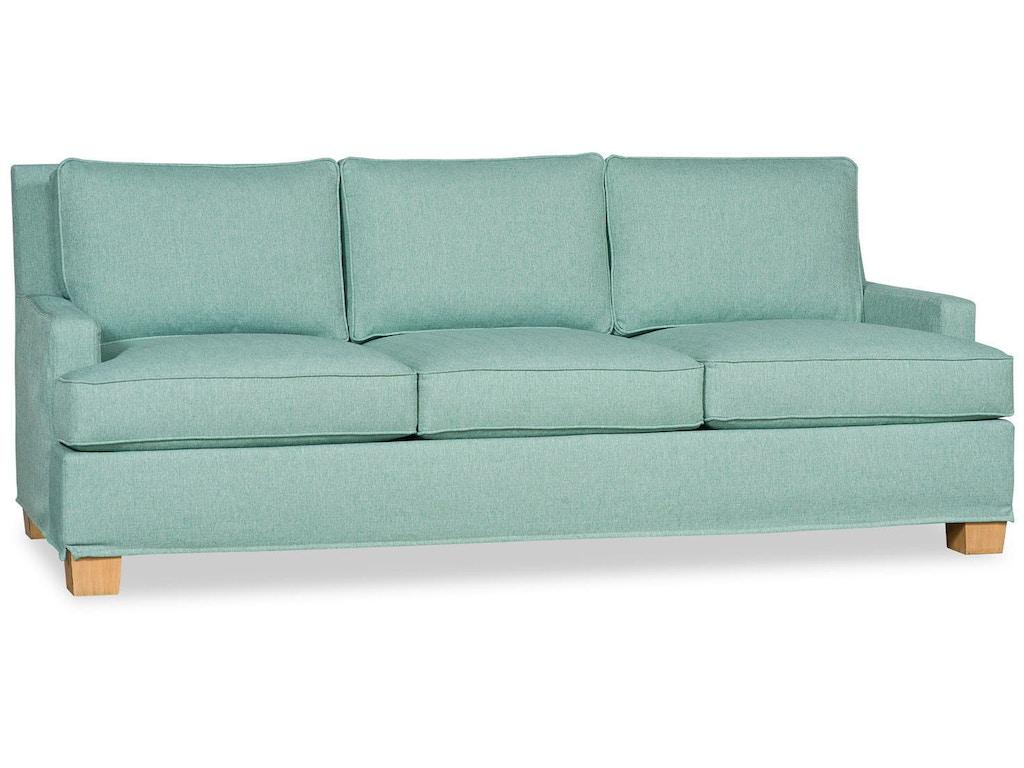 Paul robert living room vaughn sofa slipcover 671 short for K furniture mattress