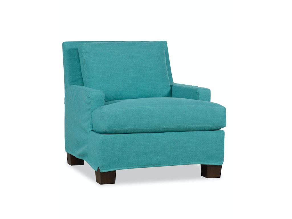 Paul Robert Living Room Chair Slipcover 671-10 SHORT SLIP