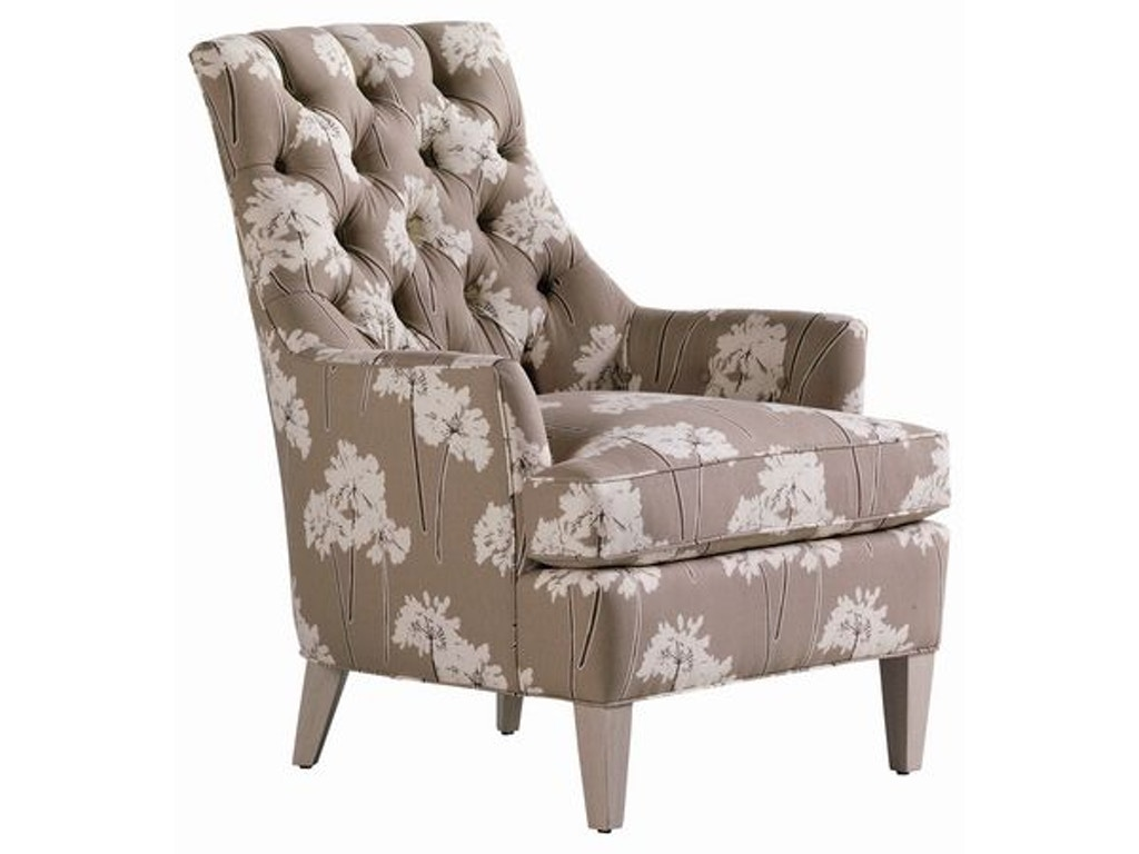 Jessica Charles Living Room Hollans Tufted Chair 113 T Cherry House Furniture La Grange And