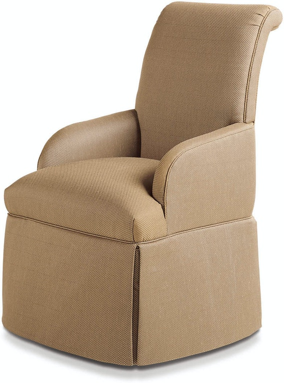 Jessica Charles Dining Room Sebastian Skirted Arm Chair