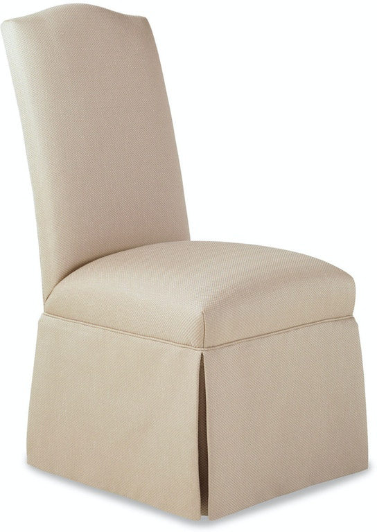 Jessica Charles Dining Room Petra Skirted Armless Chair