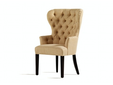 Jessica Charles Garbo Tufted Dining Arm Chair 1918-T