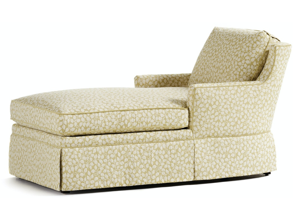 Living room kate skirted chaise 334 at greenbaum interiors for Chaise interiors