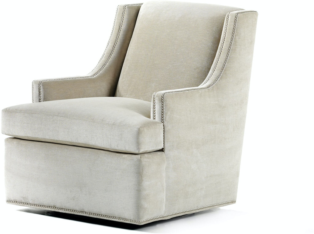 Jessica Charles Living Room Storage Ottoman 821: Living Room Crosby Swivel Chair 5625-S At Greenbaum Interiors