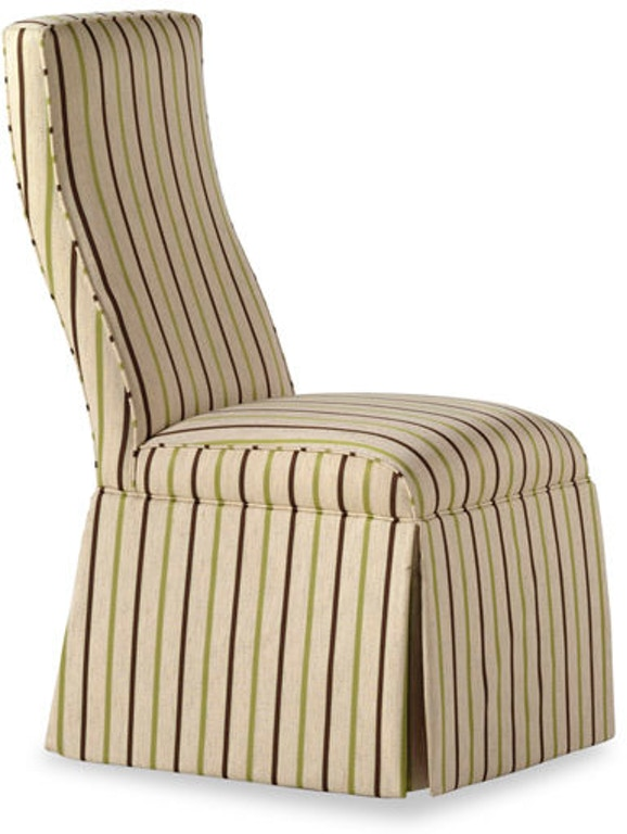 Jessica Charles Dining Room Lahaye Skirted Armless Chair