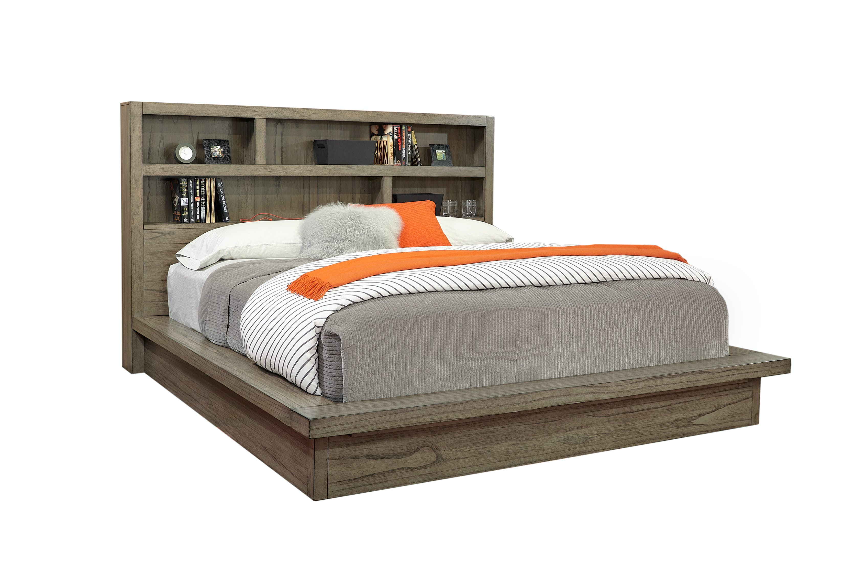 Aspenhome Bedroom Queen Platform Bed Non Storage Iml 471 Gry 473 Gry 472 Gry Stacy Furniture