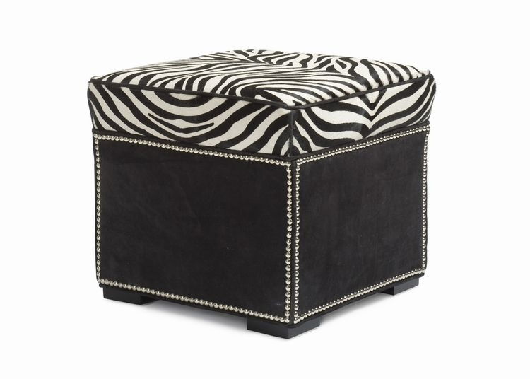 Hancock And Moore Abbey Ottoman With Border 037 B