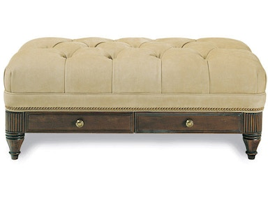 Hancock and Moore Robinson Tufted Cocktail Ottoman 079