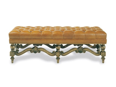Hancock and Moore Brentwood Tufted Bench 087T