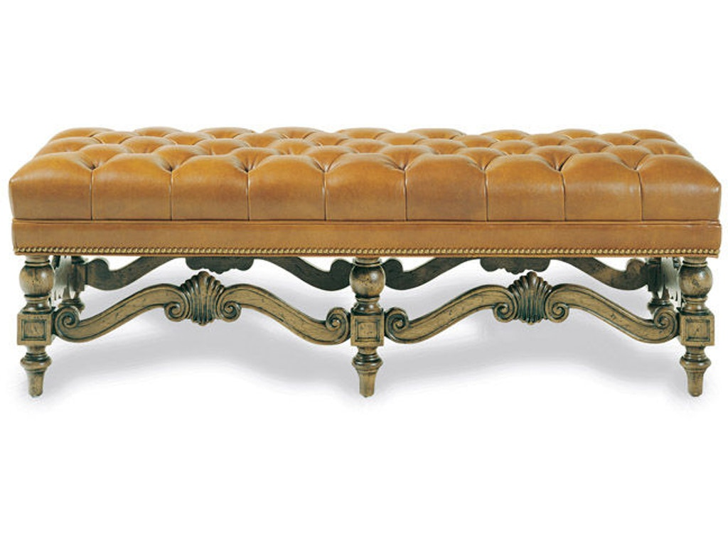 Brentwood tufted bench 087t for Walter e smithe living room furniture